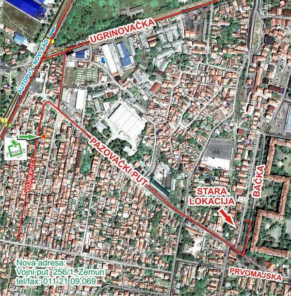 mapa zemuna Frame Art   Štamparija, Zemun mapa zemuna
